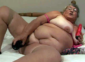 Fatty granny still insatiable and want..