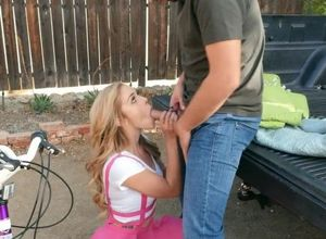 Doll luvs railing fucktoy fastened to..
