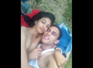 Naked indian duo takes selfie flick in..