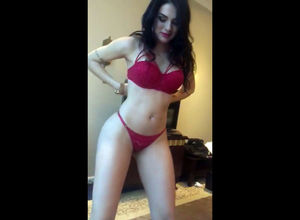 Humungous  latina brags on her meaty..