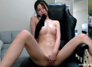 Marvelous but timid asian stripping on..