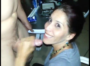 Red-hot wifey deep throating boner and..