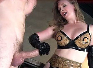 Vicious Cougar doing  hand job and..