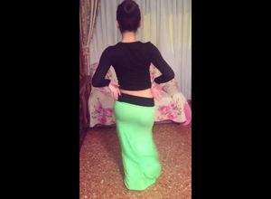 Arab virgin in lengthy sundress..