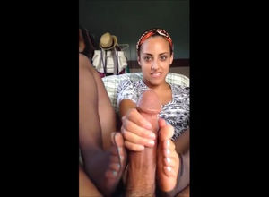 Lovely black gf in tights gives an..