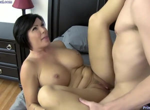Red-hot Stepmom in Bedroom
