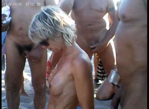 Public group sex on beach in cap d'agde
