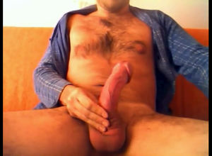 Italian guy rubbing his enormous..