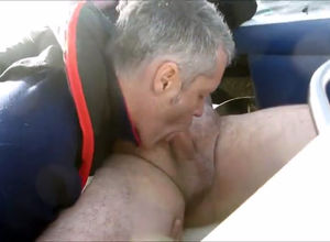 Mature gay suck friend's meatpipe on..