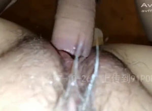 Closeup poking mammary asian gash in..