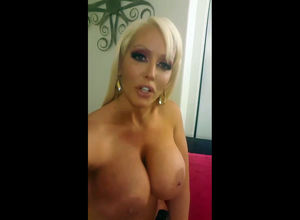 Platinum-blonde Cougar with large..