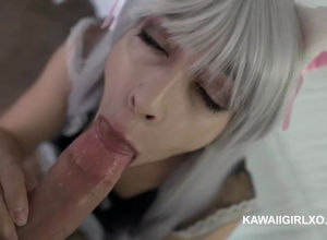 Mind-blowing japanese housemaid takes..