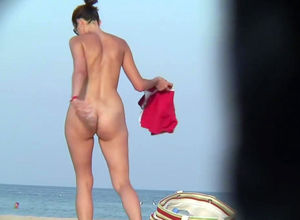 Nudists chicks poons on beach spy webcam